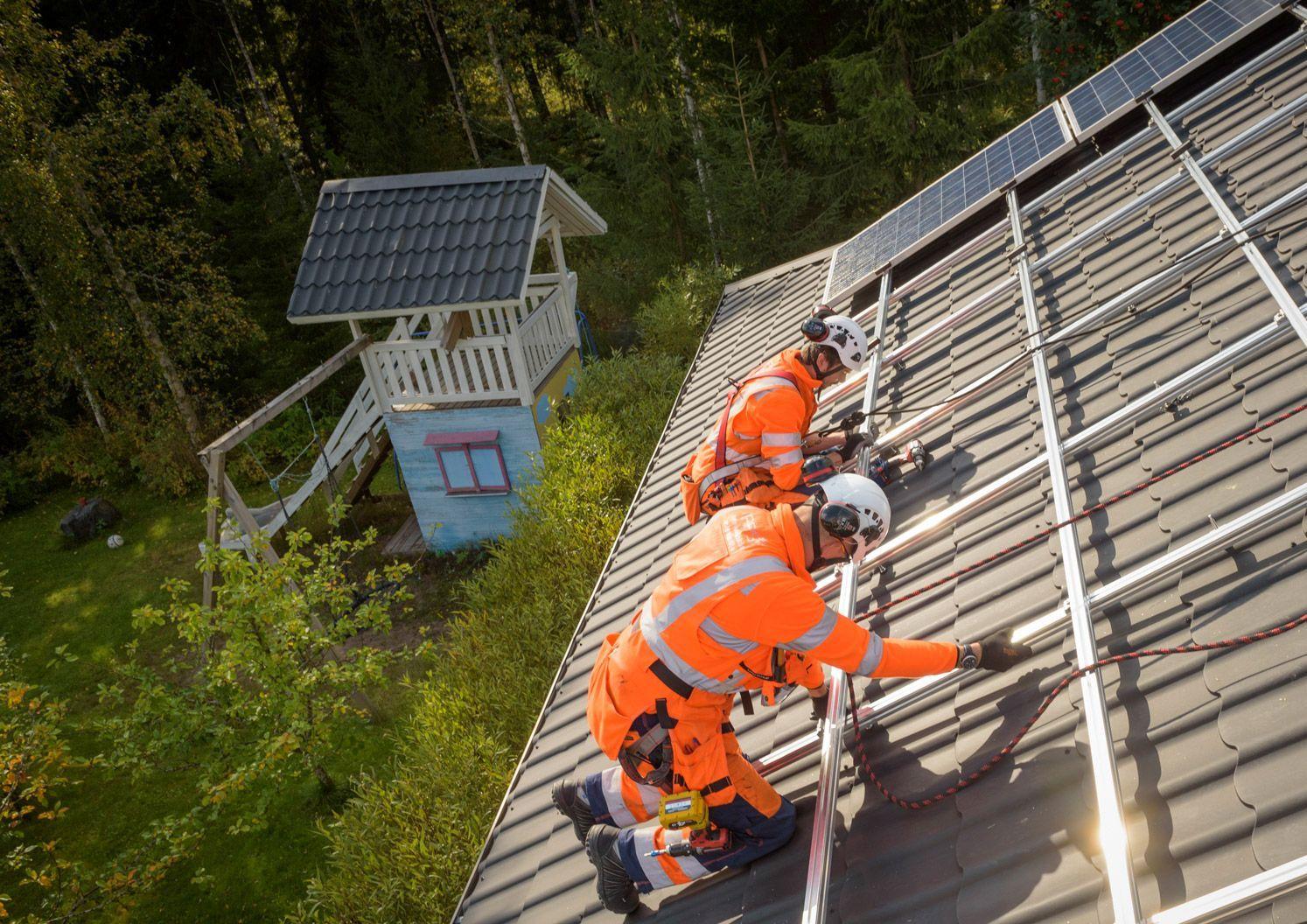 Aurinkosähköjärjestelmä Kokkolan lähialueille Kokkolan Energialta.